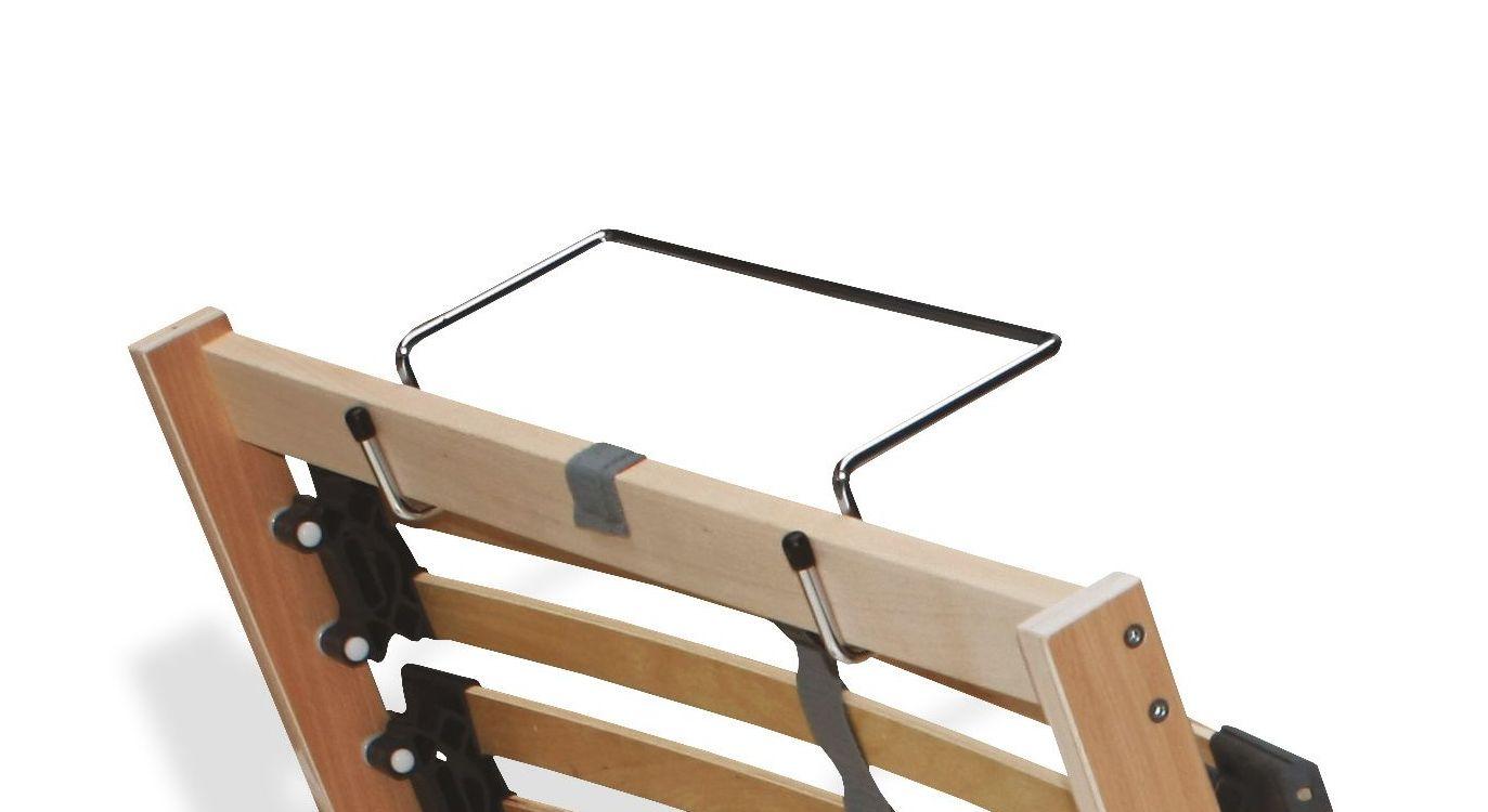 Bettkasten-Lattenrost youSleep Motor mit praktischem Haltebügel am Fußende