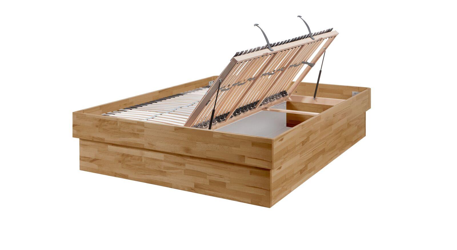Bettkastenbett Karuna mit Lattenrost seitlich zu öffnen