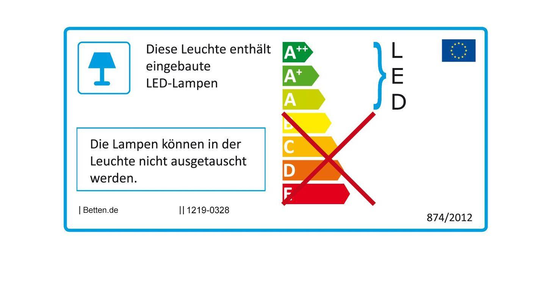 Energieverbrauchs-Kennzeichnung der LED-Bettleuchten California