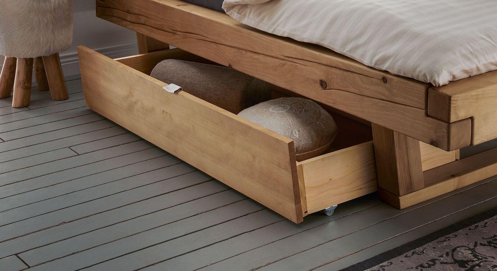 Bett-Schubkästen Basiliano aus robustem Fichtenholz