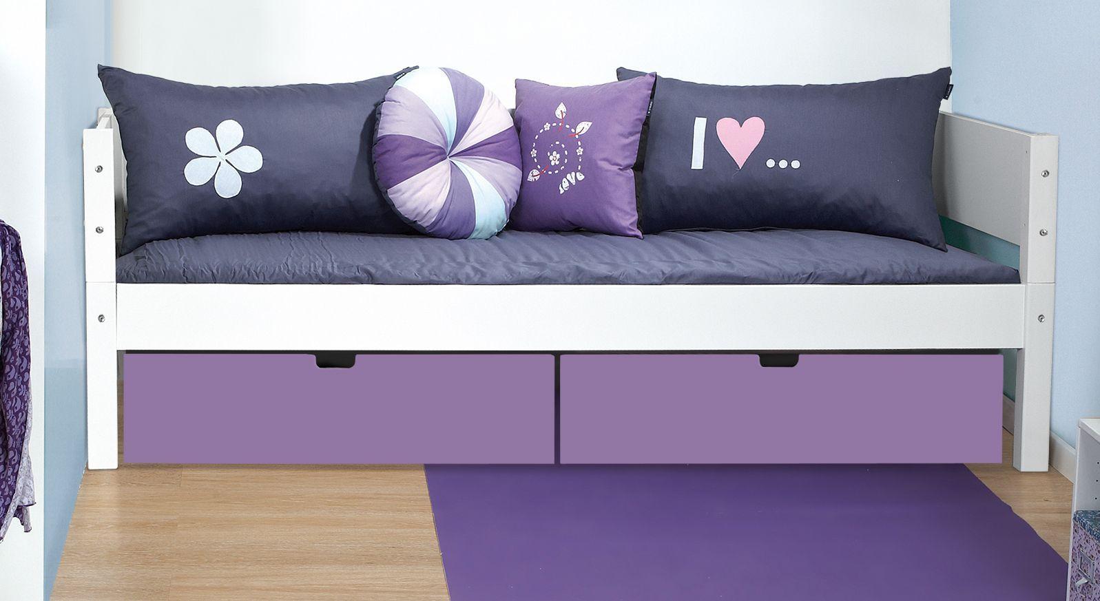 Bettschubkasten Kids Town in Violett unter Bett