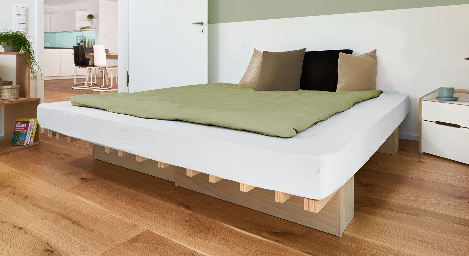 Bettsystem Tojo V aus natürlichem Holz