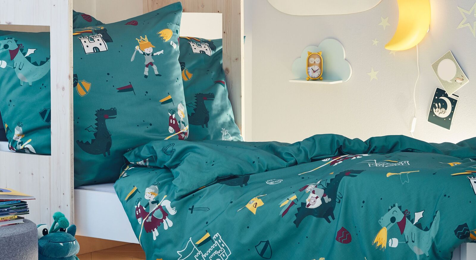 Bettwäsche s.Oliver Ritter für Kinder aus 100% Baumwolle