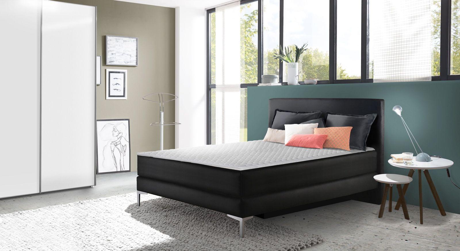 Boxsbett Annotto mit passender Schlafzimmer-Einrichtung