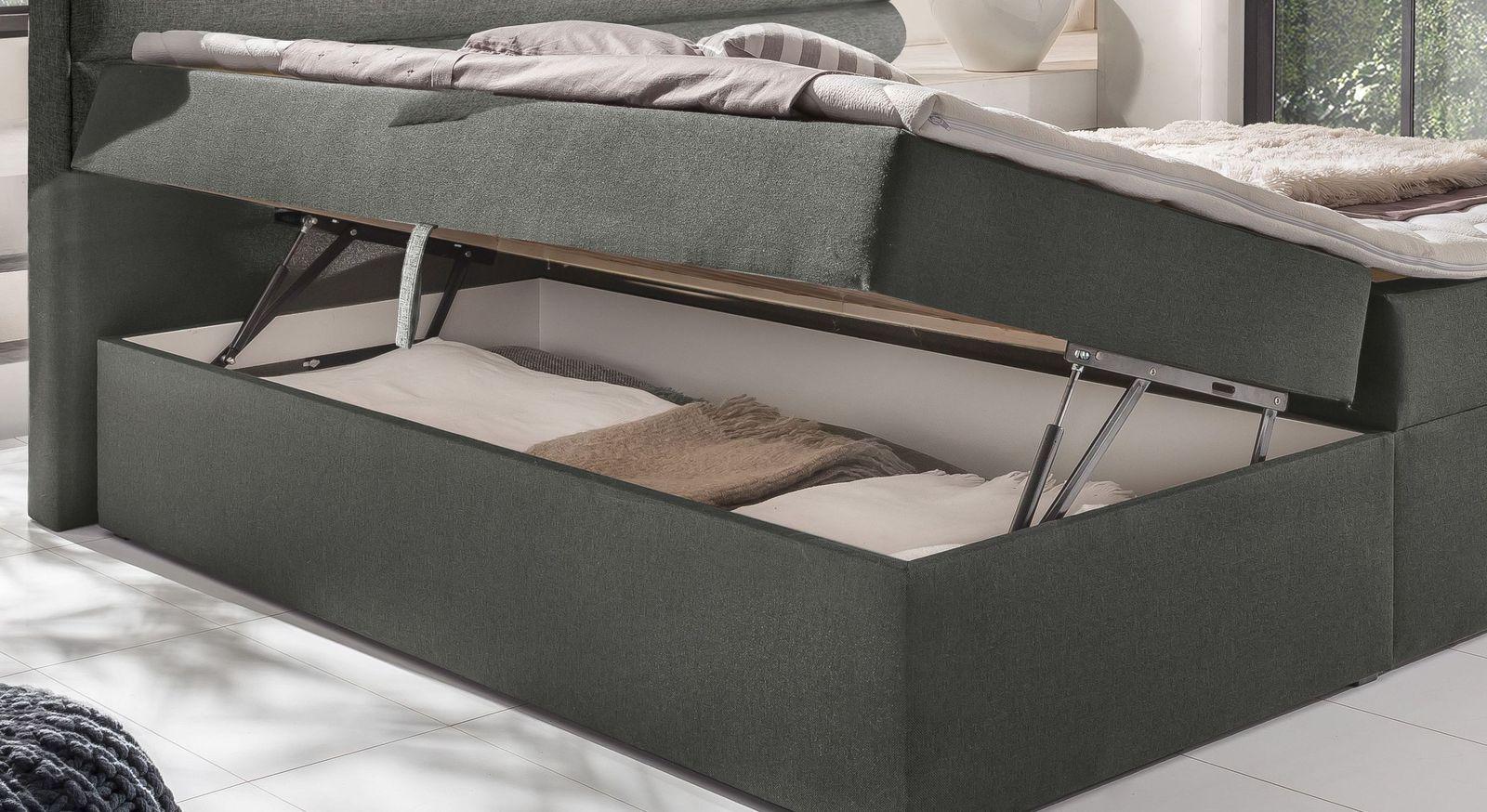 Boxbett Arba mit einfach zu öffnendem Bettkasten