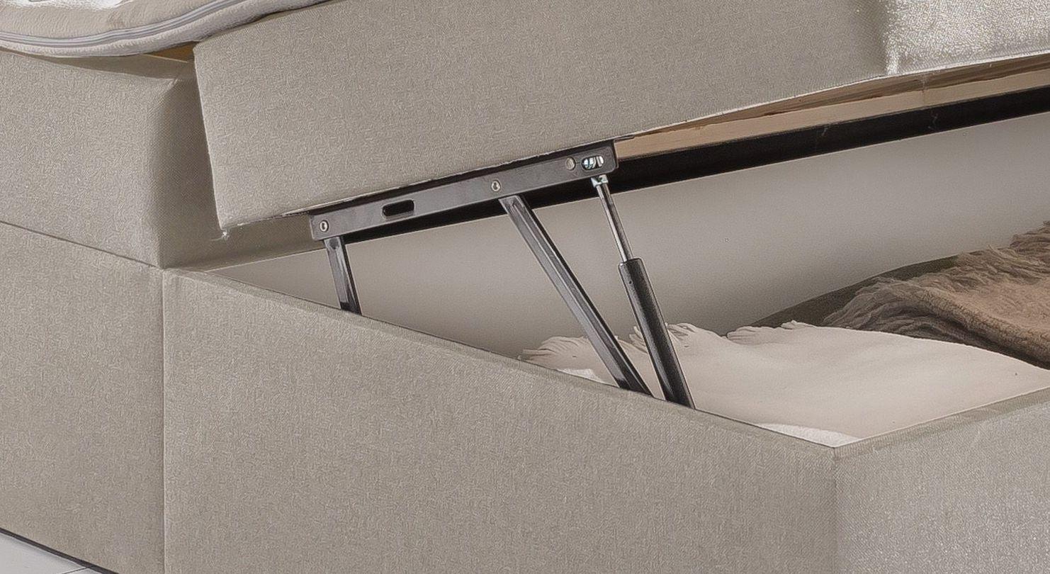 Boxbett Belcastro mit Gasdruckfeder für leichtes Öffnen