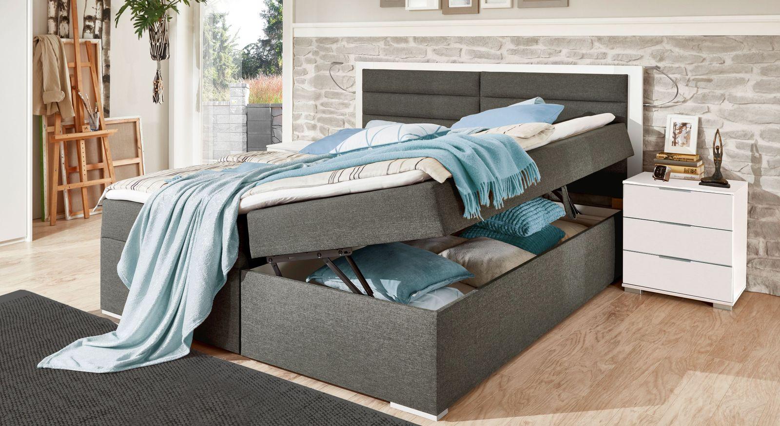 Boxbett Cartini mit passendem Nachttisch