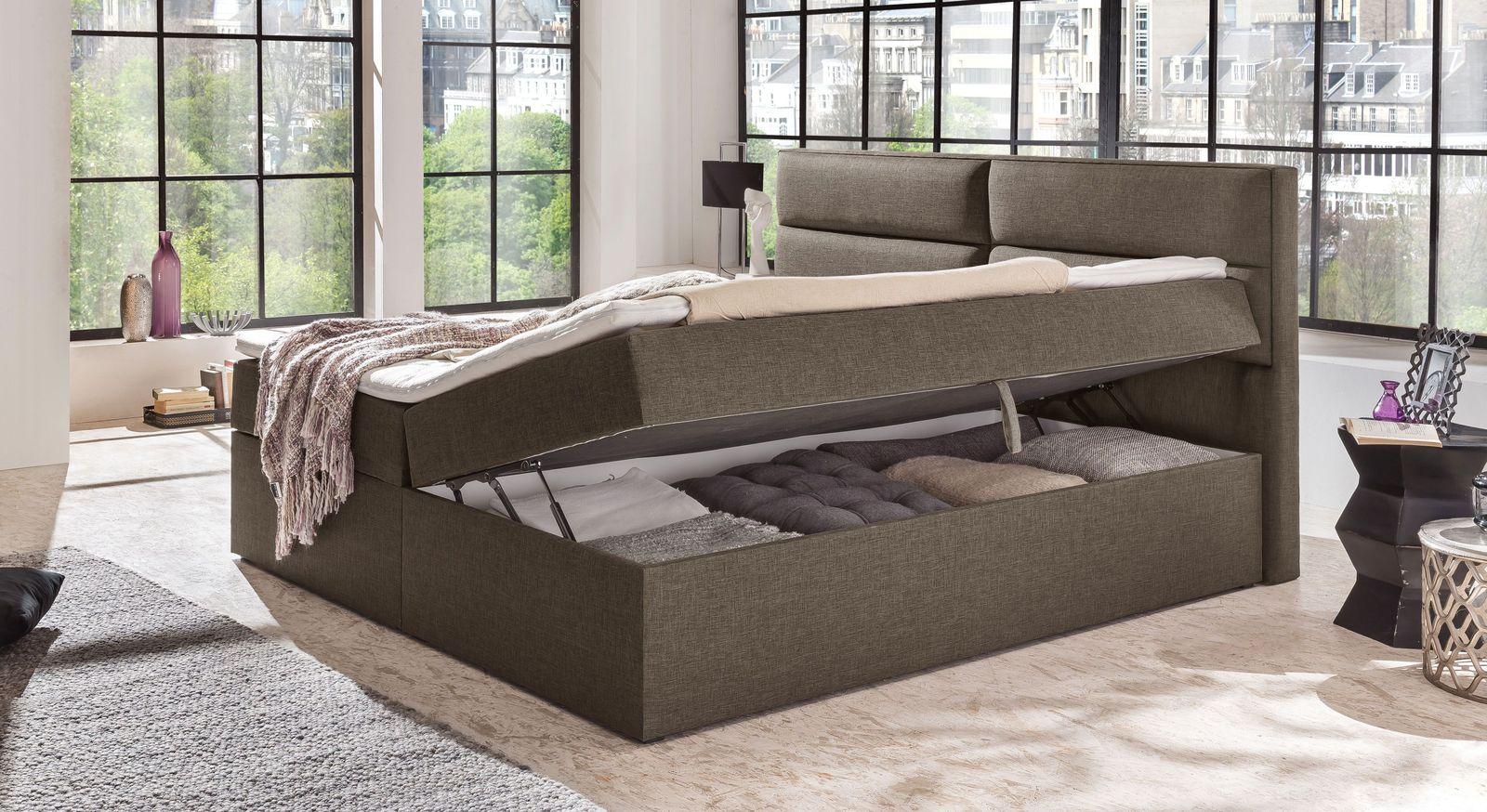 preiswertes boxbett mit bettkasten matratze und topper mileto. Black Bedroom Furniture Sets. Home Design Ideas