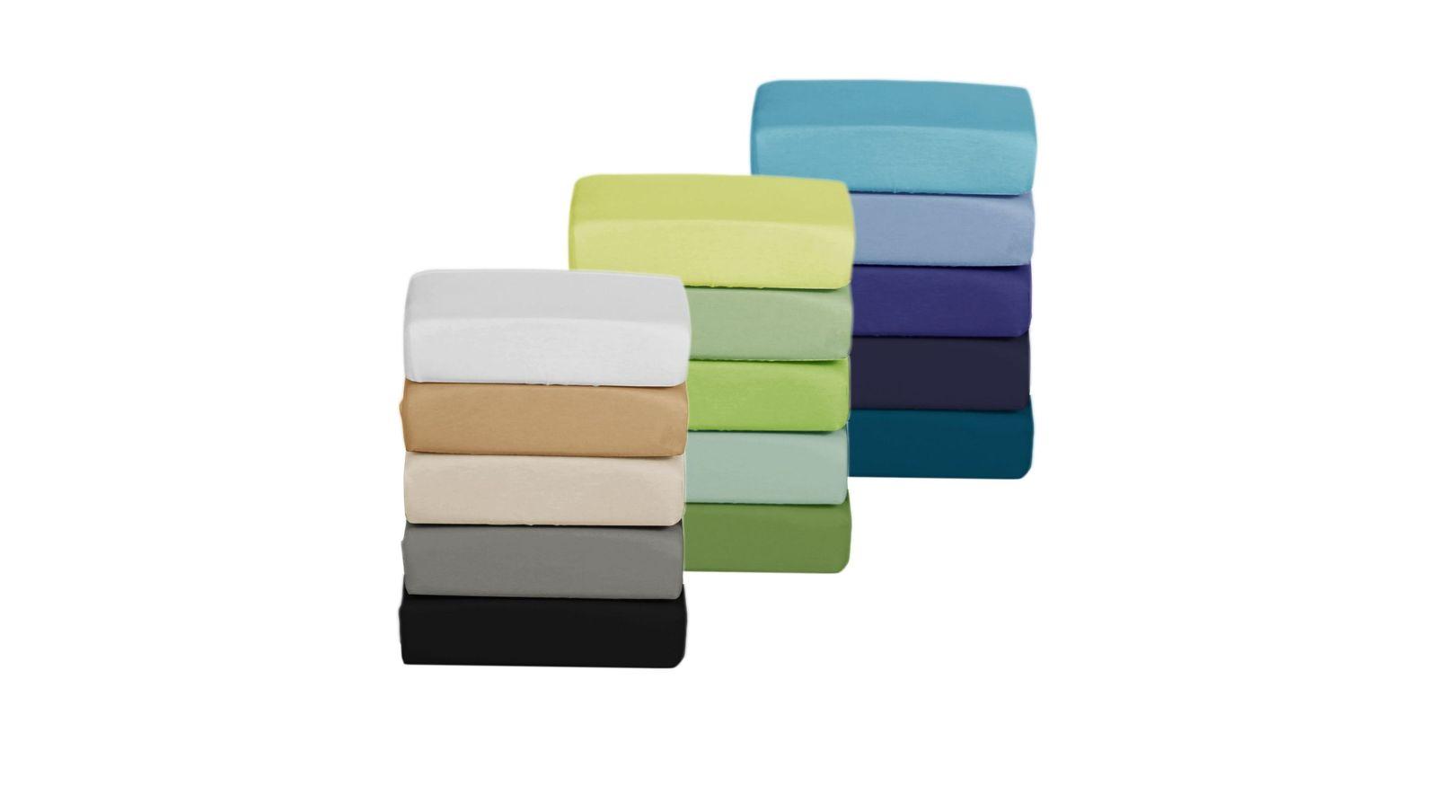 Große Farbauswahl für das Boxspring-Spannbetttuch für Obermatratzen