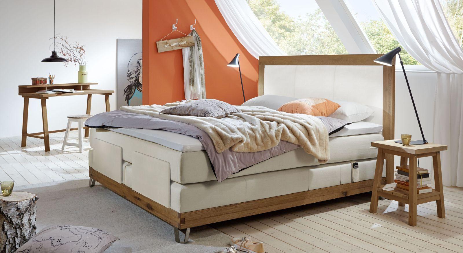Boxspringbett Arezzino Elektro mit passenden Schlafzimmer-Möbeln