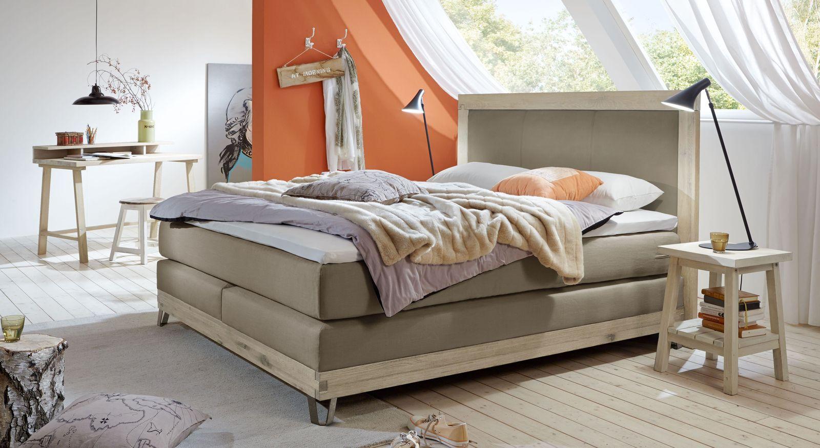 Boxspringbett Zamora mit passender Schlafzimmer-Einrichtung