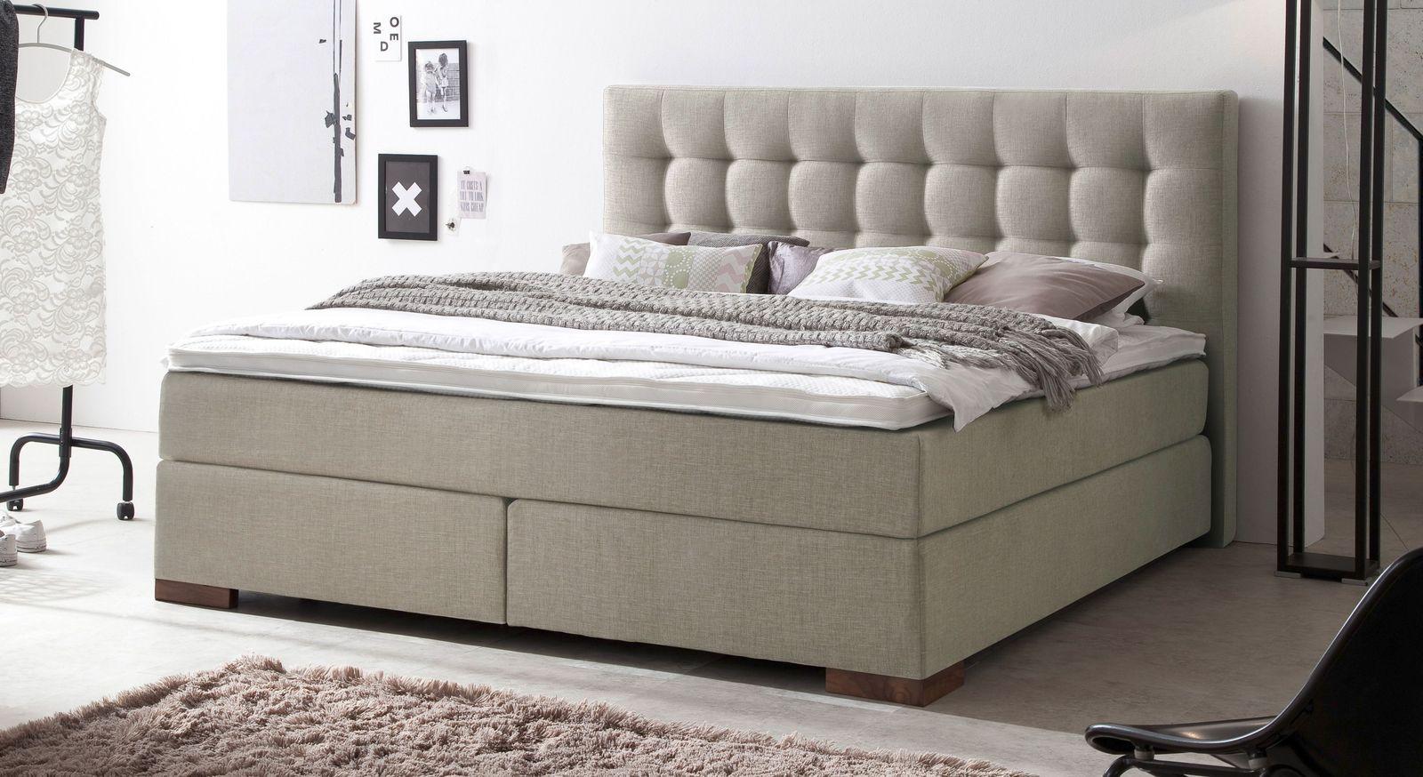 boxspringbett in z b 160x200 cm in h2 bis h5 g nstig arlon. Black Bedroom Furniture Sets. Home Design Ideas