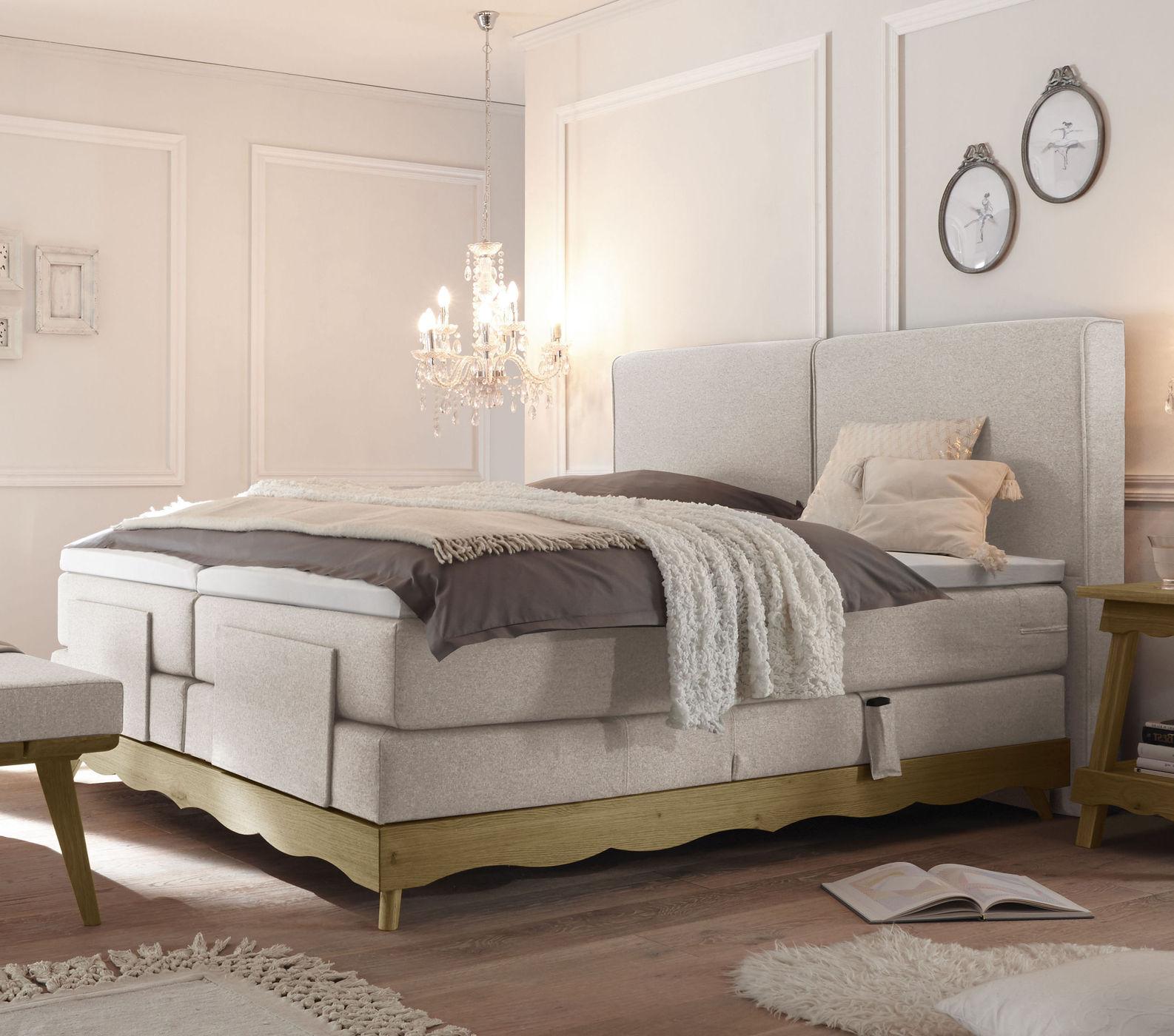 elektro boxspringbett inklusive luxus matratze und topper. Black Bedroom Furniture Sets. Home Design Ideas
