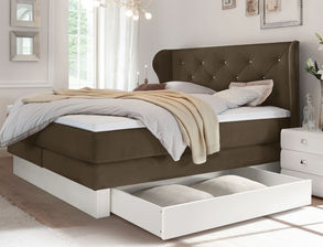 boxspringbetten in blau preiswert online bestellen. Black Bedroom Furniture Sets. Home Design Ideas