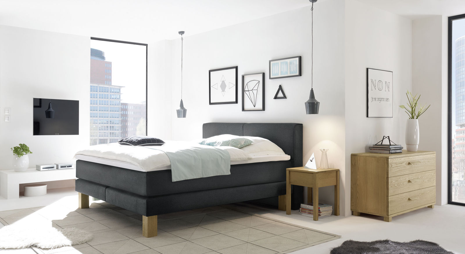 boxspringbett f r dicke menschen individuell anpassbar coro. Black Bedroom Furniture Sets. Home Design Ideas