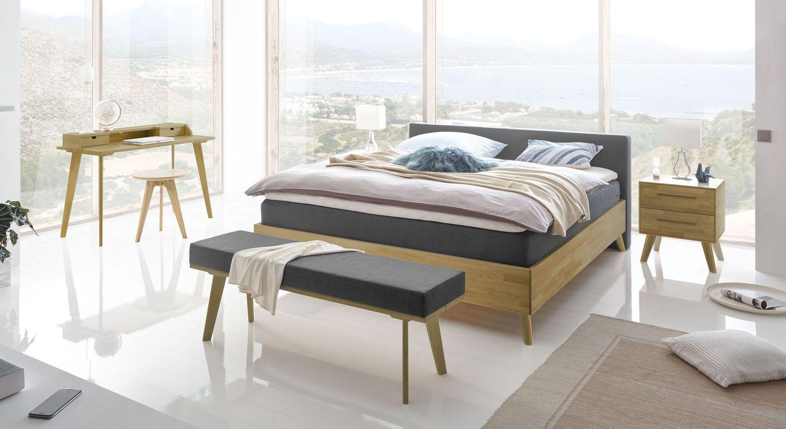 Boxspringbett Gandio mit passenden Schlafzimmermöbeln