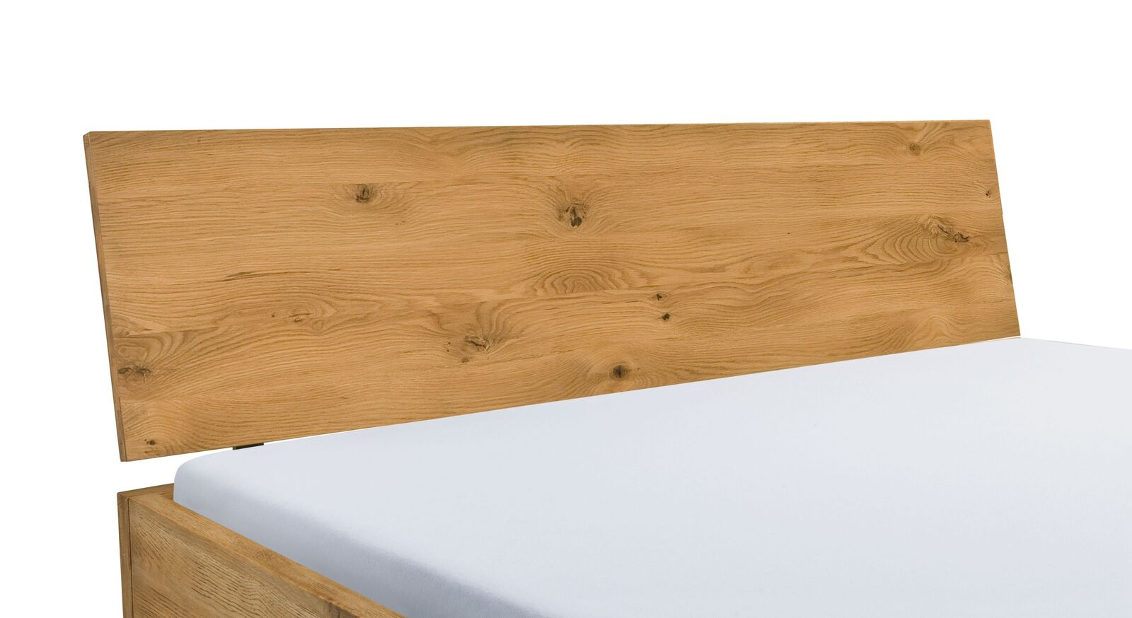 Boxspringbett Kingston mit leicht geneigtem Holzkopfteil