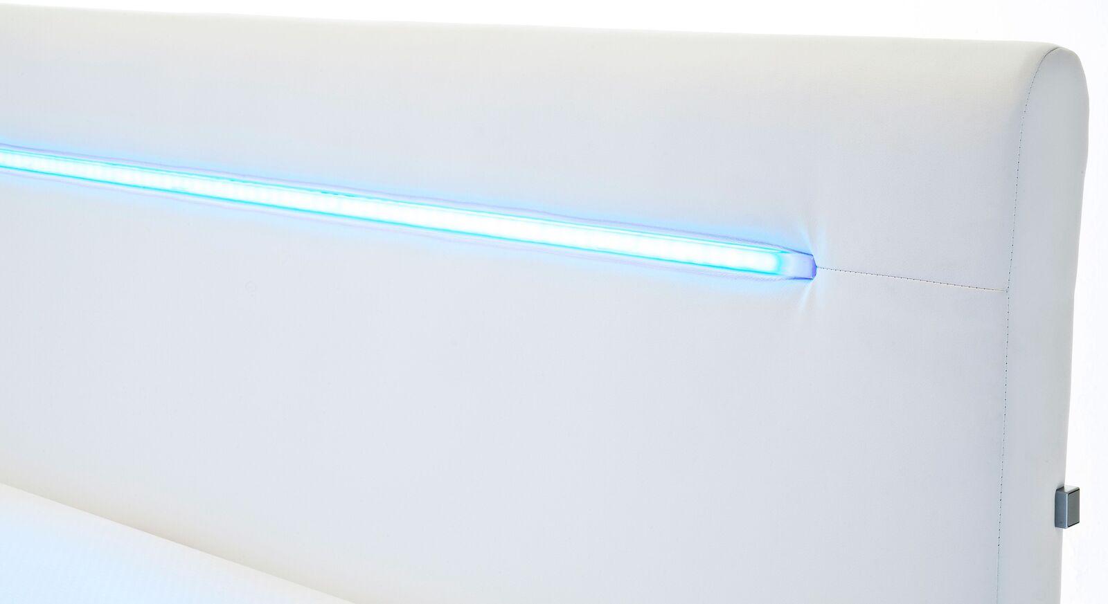 Boxspringbett Lexton mit gepolstertem Kopfteil inklusive LED-Stripes