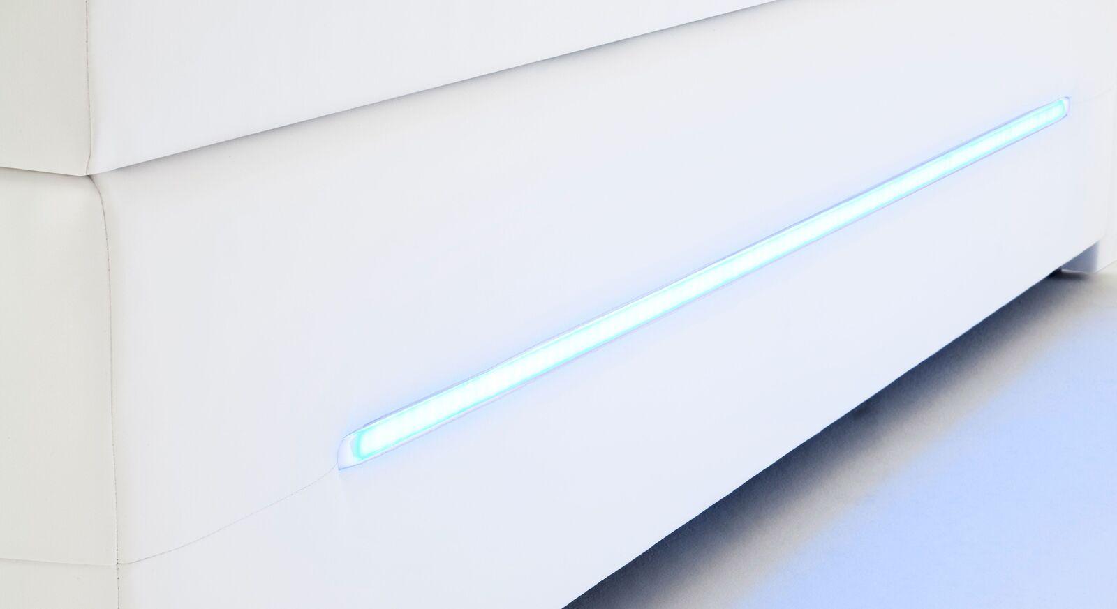 Boxspringbett Lexton mit seitlicher LED-Beleuchtung