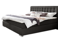Anthrazitfarbenes Boxspringbett Matai Express in 180x200 cm
