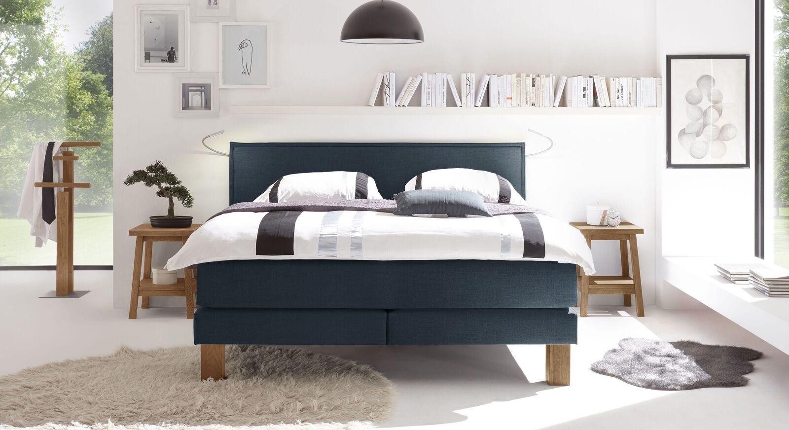 boxspringbett individuell konfigurierbar bis 150 kg oss. Black Bedroom Furniture Sets. Home Design Ideas