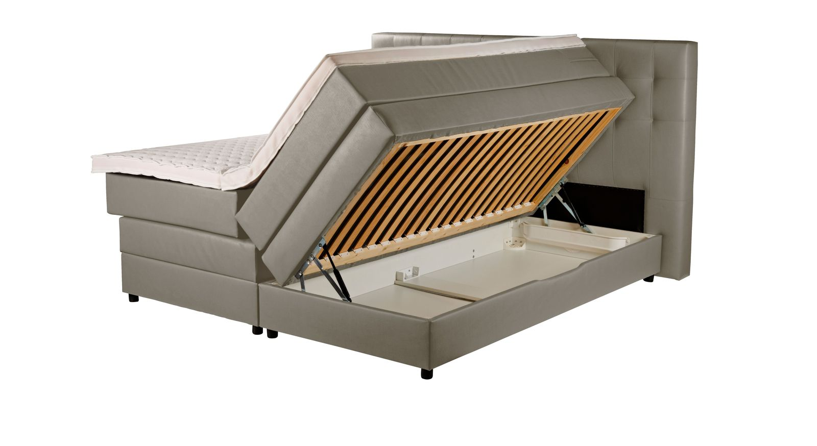 Boxspringbett Portmore mit geräumigem Bettkasten