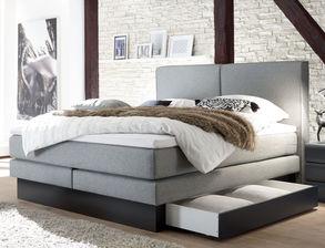 boxspringbetten mit bettkasten und stauraum online kaufen. Black Bedroom Furniture Sets. Home Design Ideas