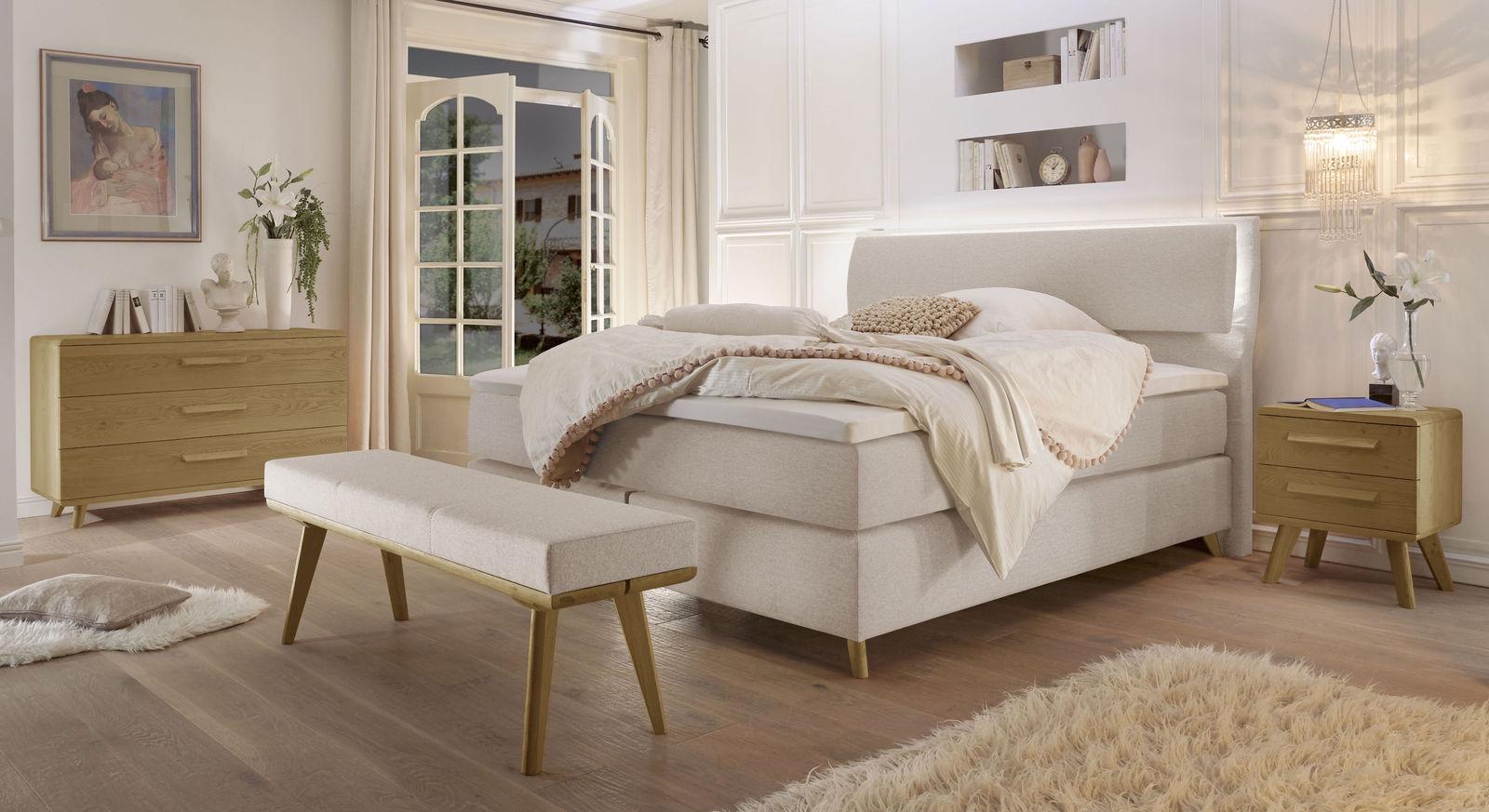 Bosxpringbett Somera mit passenden Schlafzimmermöbeln