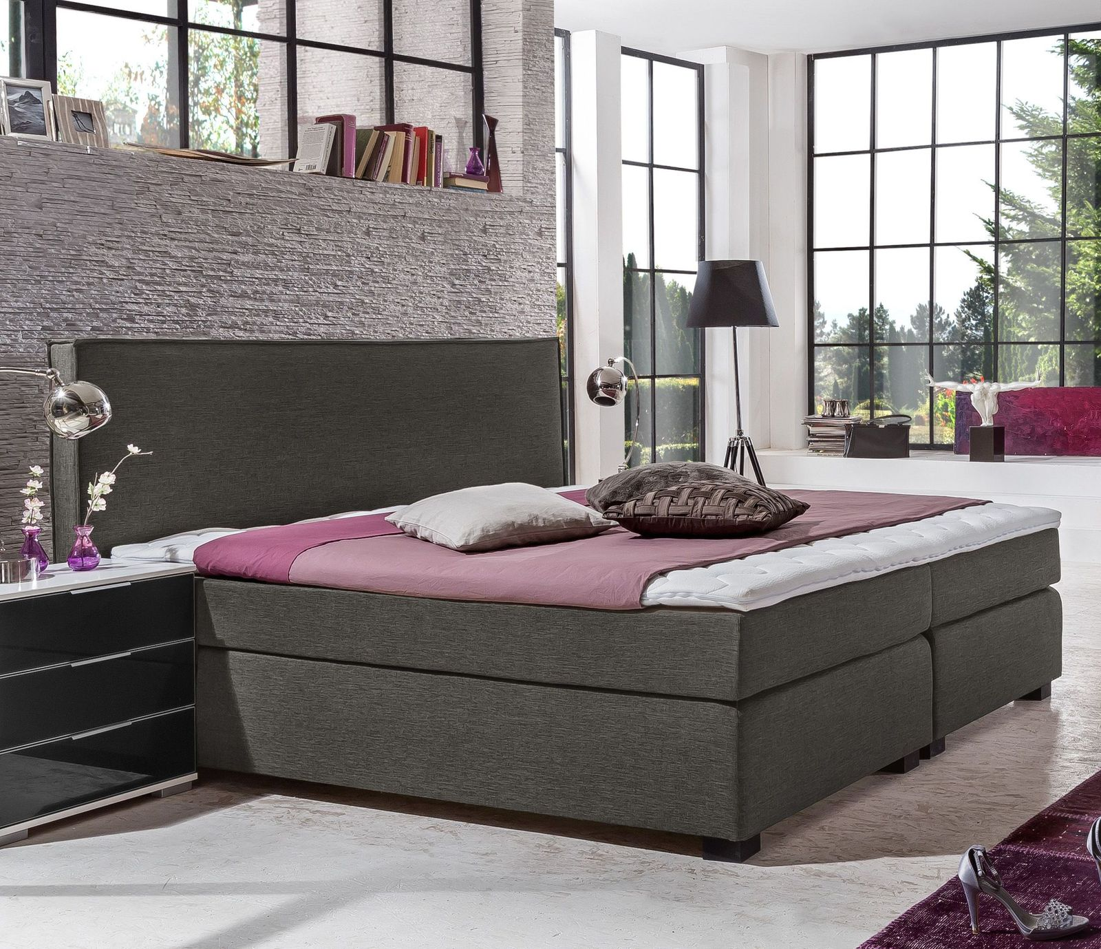 ungew hnlich boxspringbetten polsterbetten unterschiede uberblick fotos die besten wohnideen. Black Bedroom Furniture Sets. Home Design Ideas