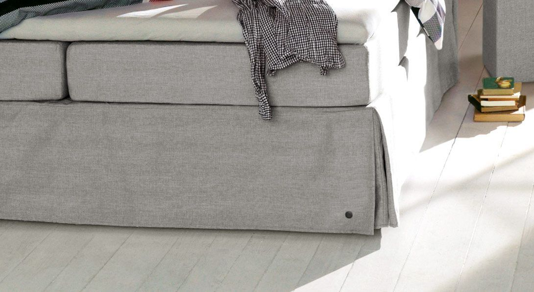 Boxspringbett Tom Tailor Cushion mit Volant Stoff