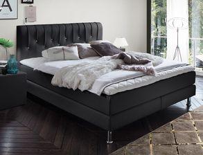 Schlafzimmer komplett Boxspringbett Swarovski®-Steine - Zinola