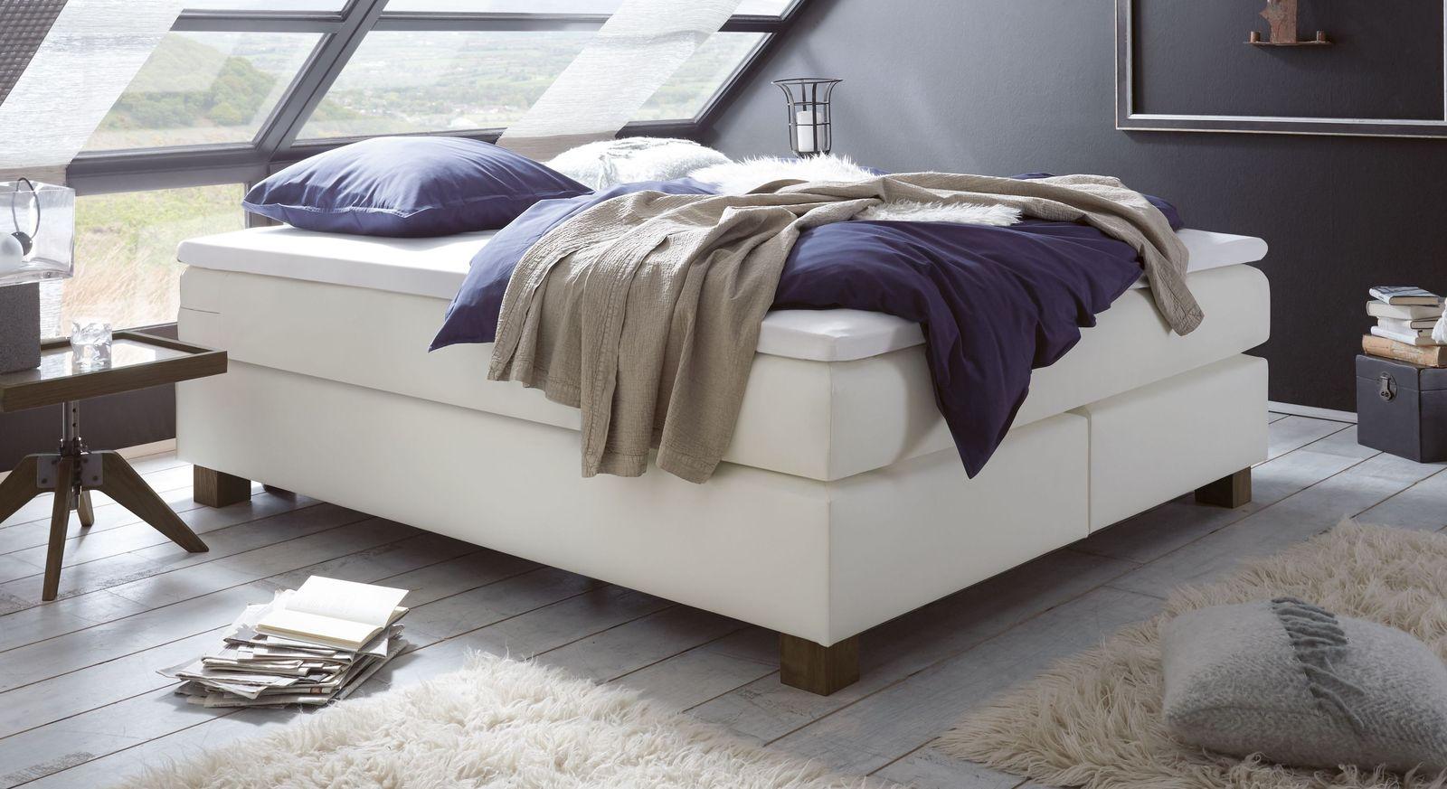 modernes boxspring doppelbett ohne kopfteil goma. Black Bedroom Furniture Sets. Home Design Ideas
