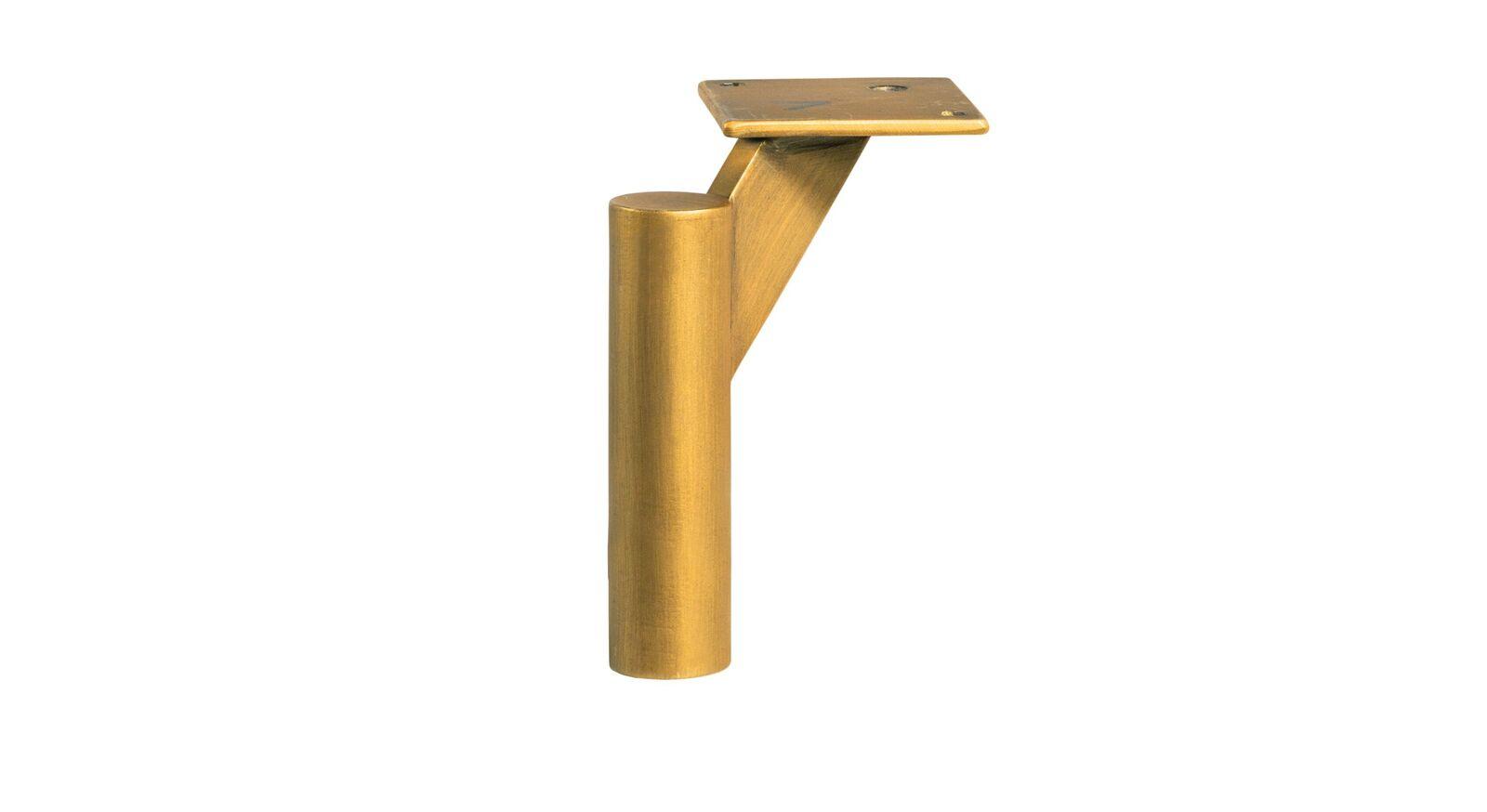 Runde bronzefarbene Metallbettbeine
