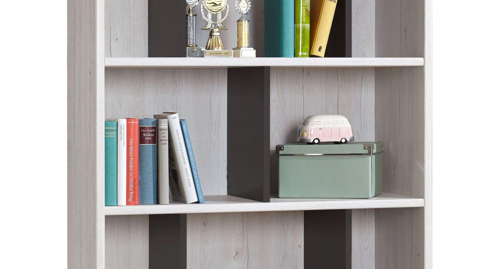 Dekor-Bücherregal Mereto mit optimaler Unterteilung