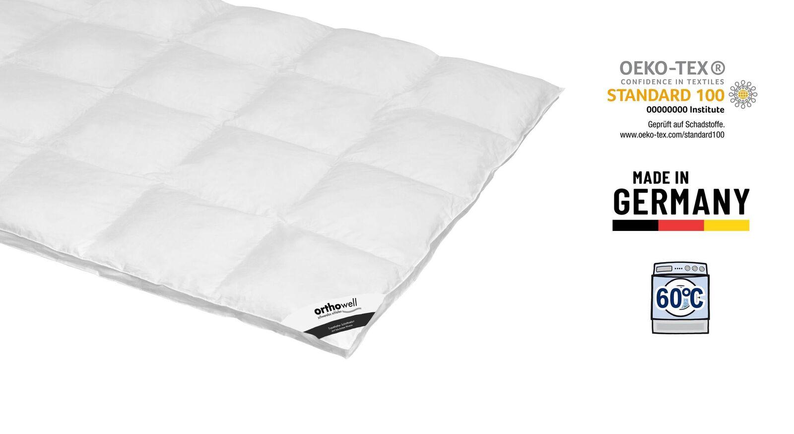 Zertifizierte Daunen-Bettdecke orthowell extra warm