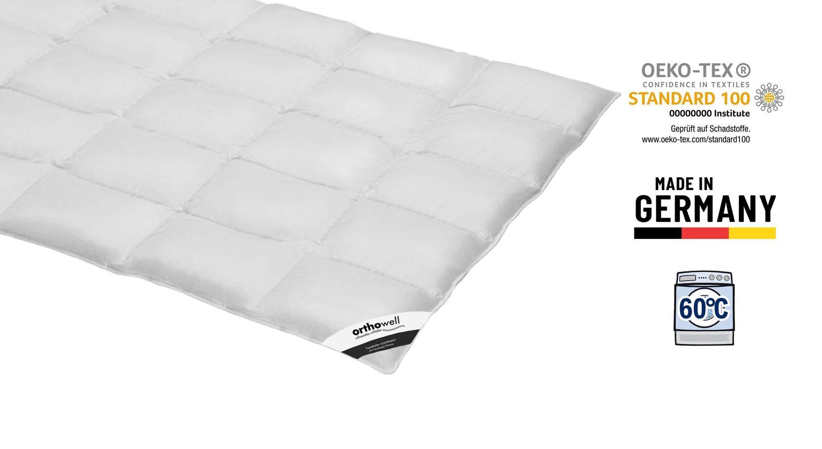Weiche Zertifizierte Daunen-Bettdecke orthowell normal