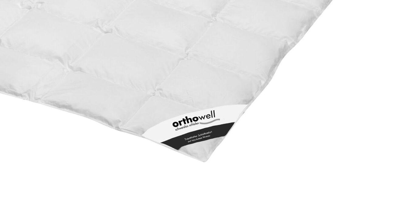 Daunen-Bettdecke orthowell Standard extra leicht in Markenqualität