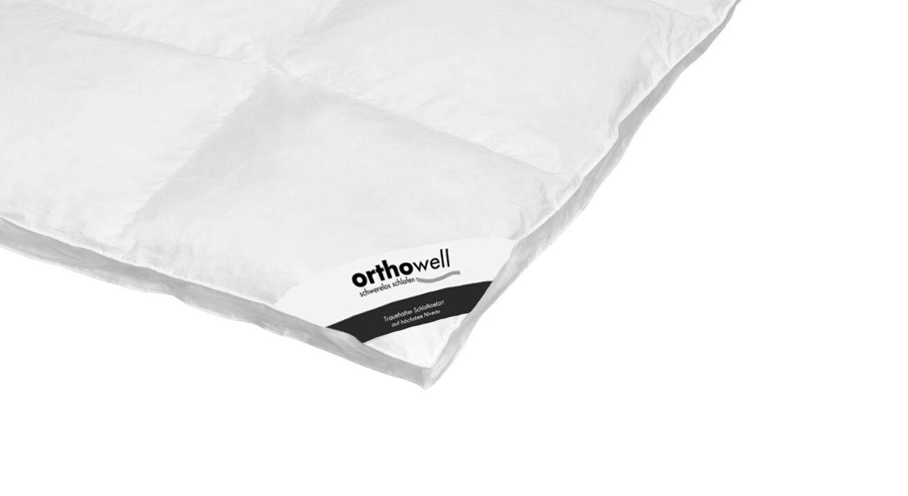 Daunen-Bettdecke orthowell Standard extra warm in Markenqualität