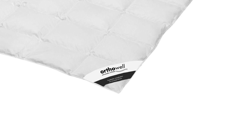 Daunen-Bettdecke orthowell Superior extra leicht in Markenqualität