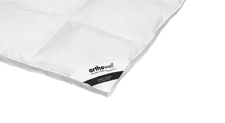 Daunen-Bettdecke orthowell Superior extra warm in Markenqualität