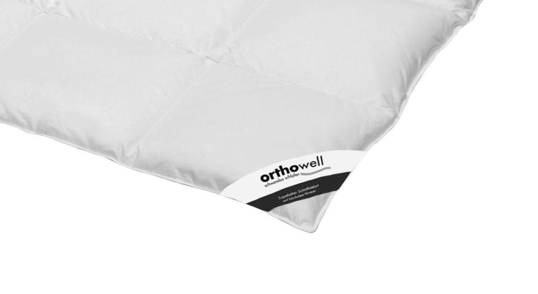 Daunen-Bettdecke orthowell warm in Markenqualität