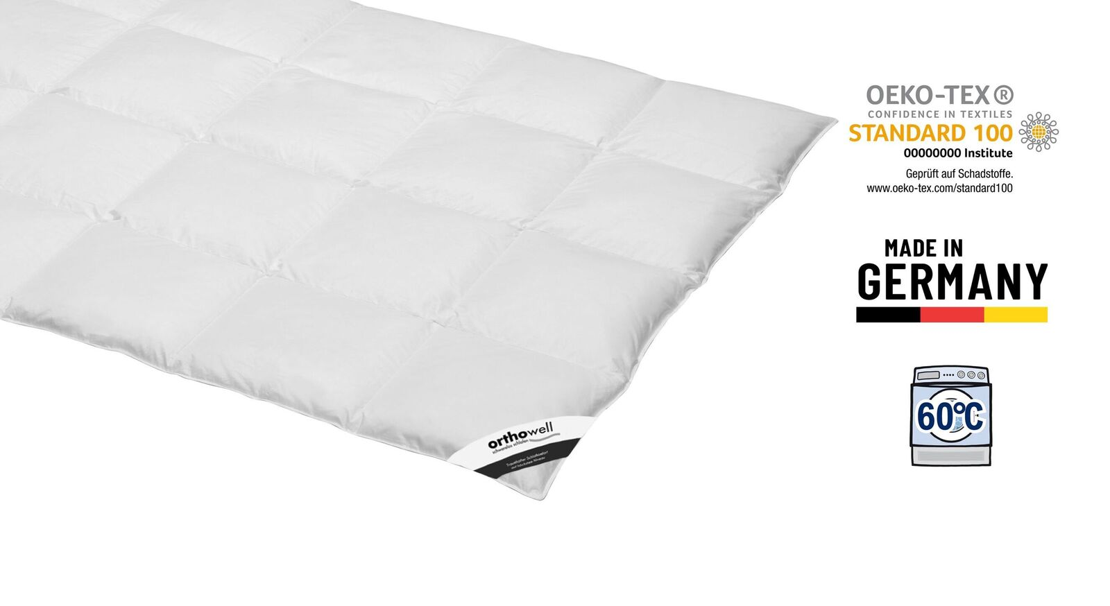 Zertifizierte Daunen-Bettdecke orthowell warm