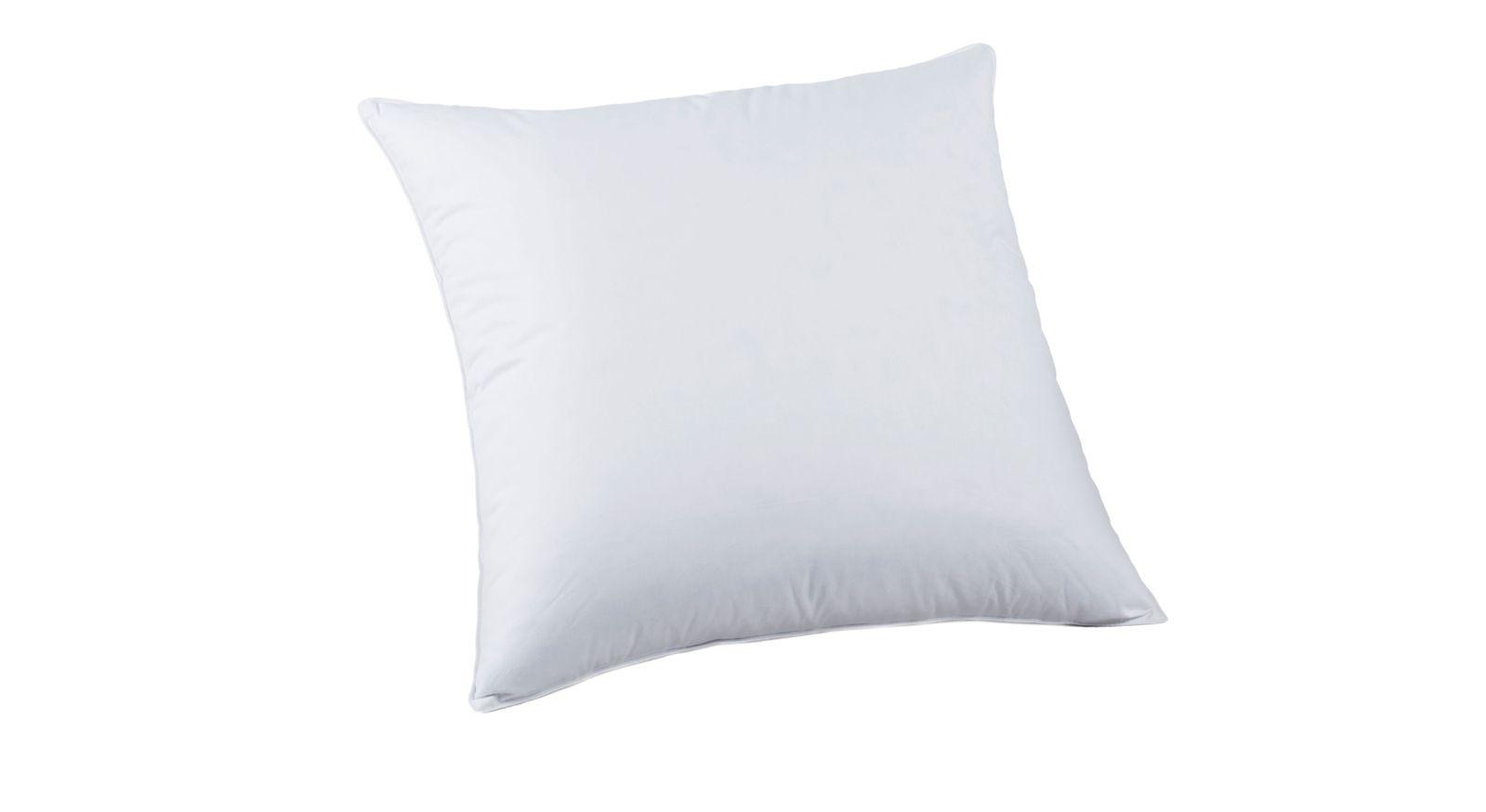 Weißes Daunen-Kissen Pyrenex Duo mit Baumwollbezug