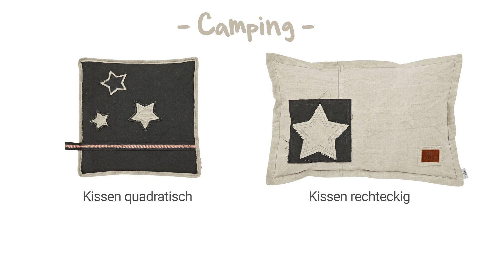 Übersicht LIFETIME Dekokissen Camping