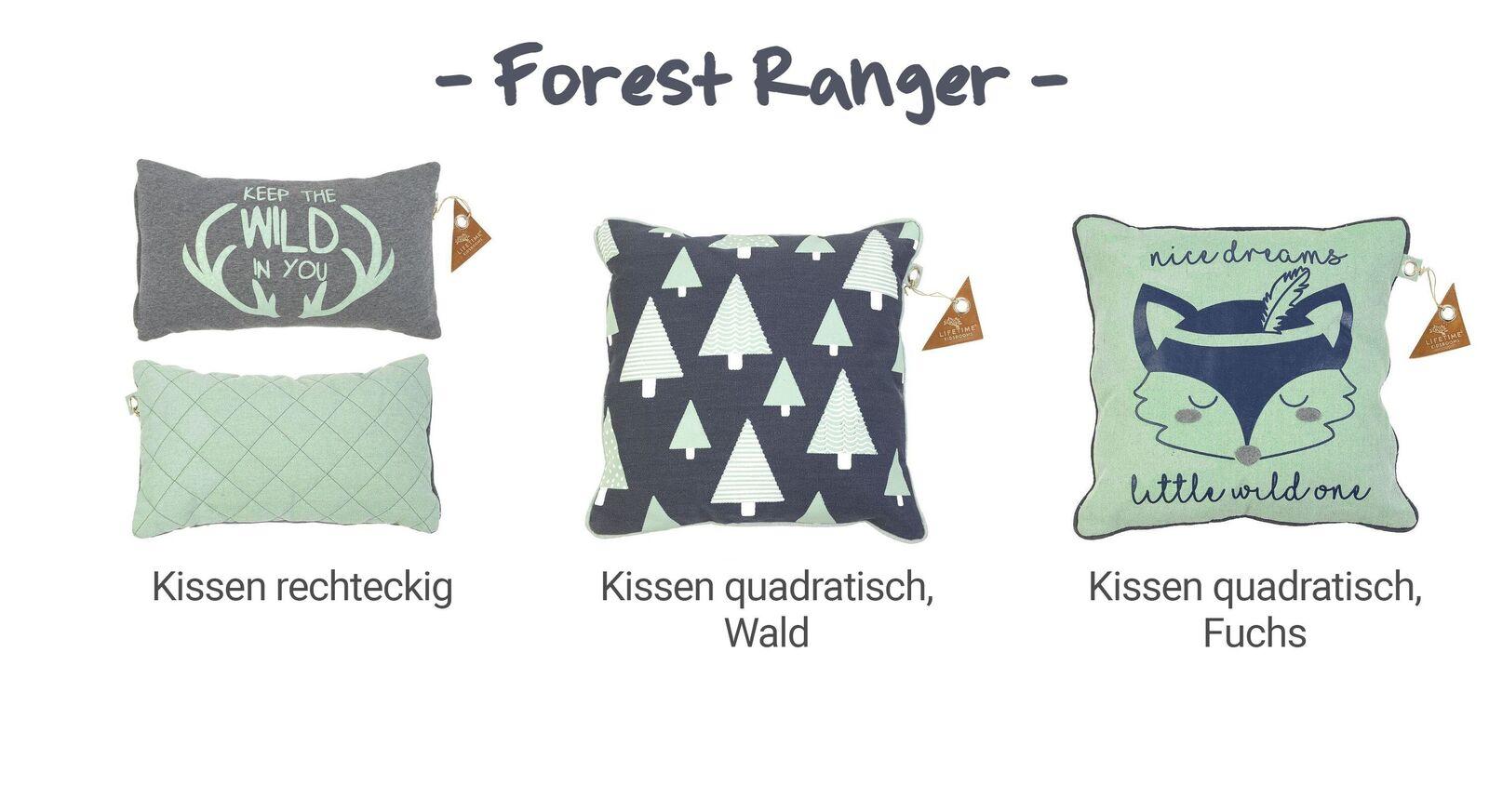 Übersicht LIFETIME Dekokissen Forest Ranger