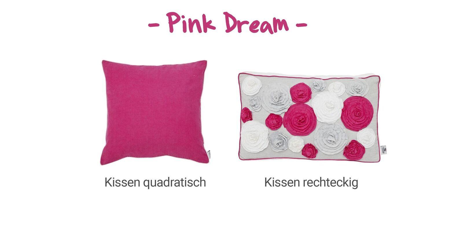 Übersicht LIFETIME Dekokissen Pink Dream