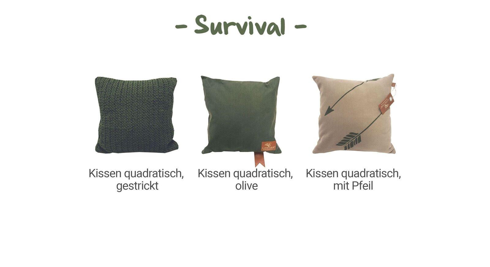 Übersicht LIFETIME Dekokissen Survival