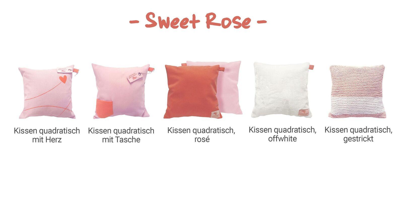 Übersicht LIFETIME Dekokissen Sweet Rose