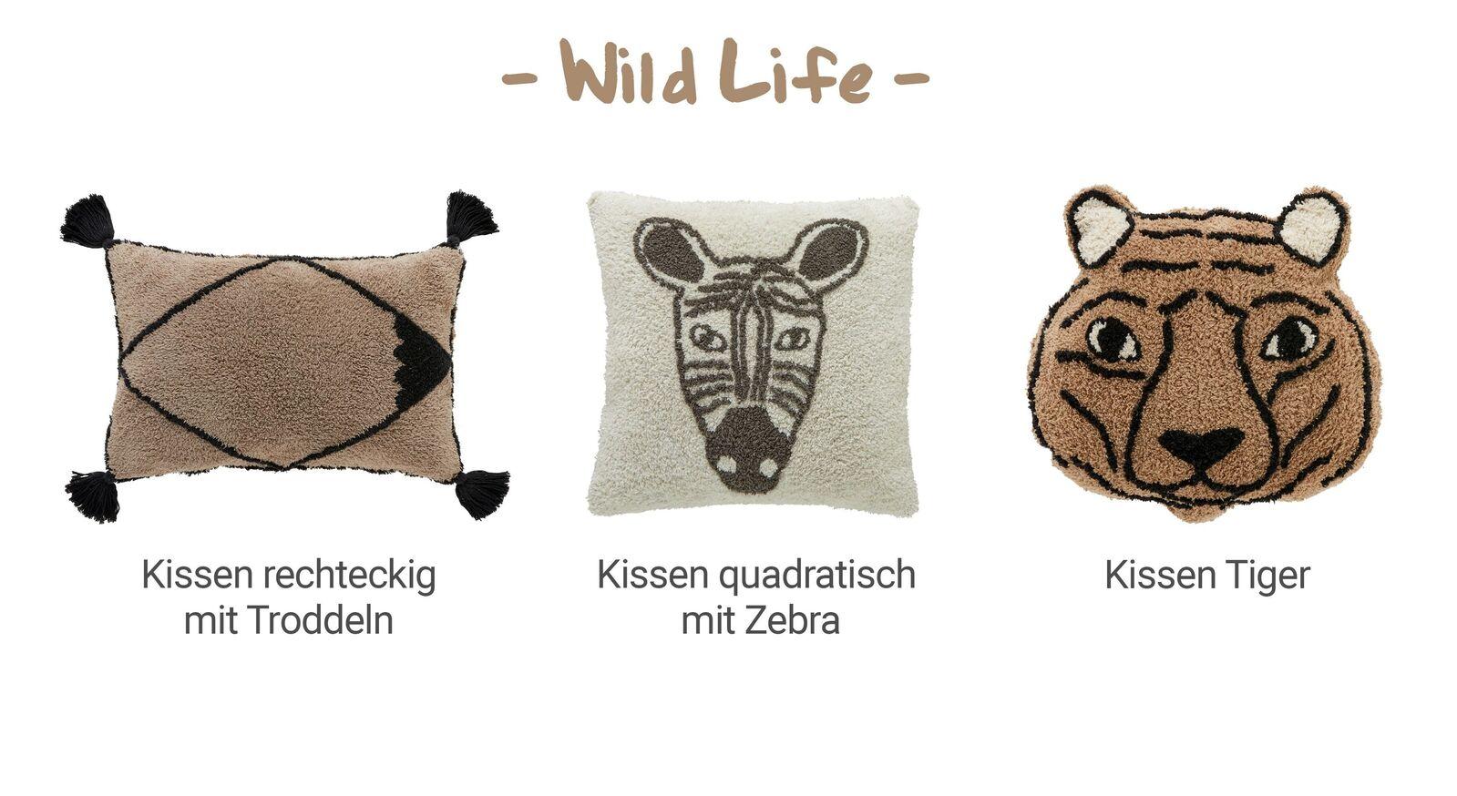 Übersicht LIFETIME Dekokissen Wild Life