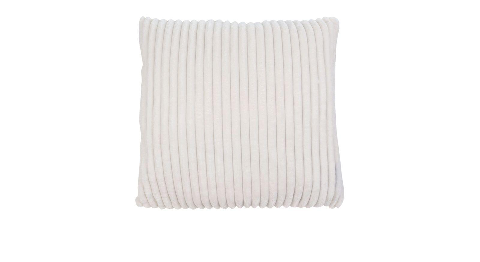 Dekokissen Streifentraum fürs Sofa in schlichtem Wollweiß